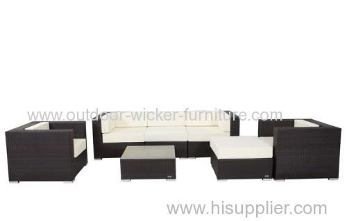 Sectional outdoor plastic sofa set