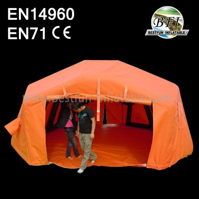 Hot Sale Orange Camping Inflatable Airtight Tent