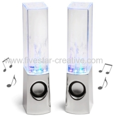 USB Powered Colorful LED Fountain Dancing Water Mini Music Speakers for MP3 MP4 Mobile phone Computer
