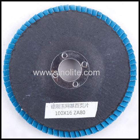 Flap disc fiberglass backing ziconia oxide material: ZA Grit Size:40-120