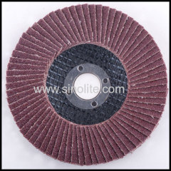 Flap disc fiberglass backing aluminium oxide
