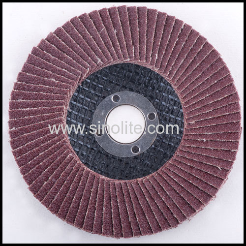Flap disc fiberglass backing aluminium oxide material A Grit size 40-120# sizes from 100-180mm