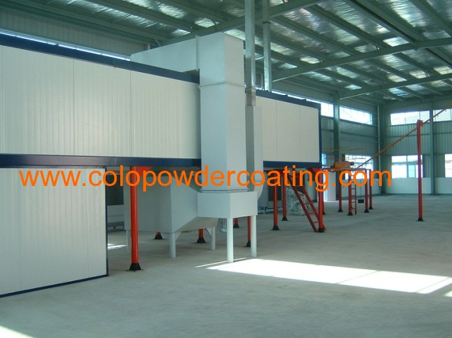 Automatic conveyor powder coating equipment with powder coating oven