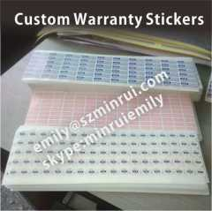 Warranty Stickers for Laptops Cellphones or Electronics