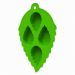 mint leaf shape food grade silicone ice cube maker