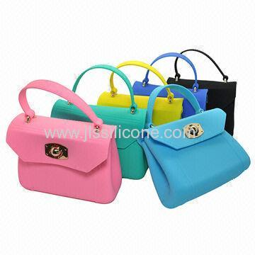 Best Choice Sweet Color Silicone Handbag for Ladies