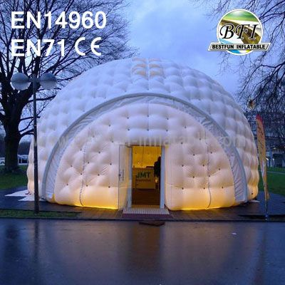 White Inflatable Air-Condition Tent With Glass Door