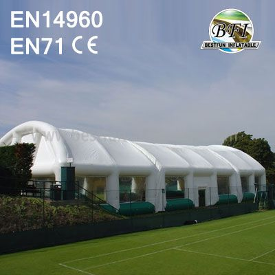 Long Commercial White Outdoor Inflatable Tennis Tents