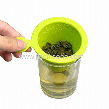 New Arrival Silicone Tea Infuser with Maple Leaf Handle