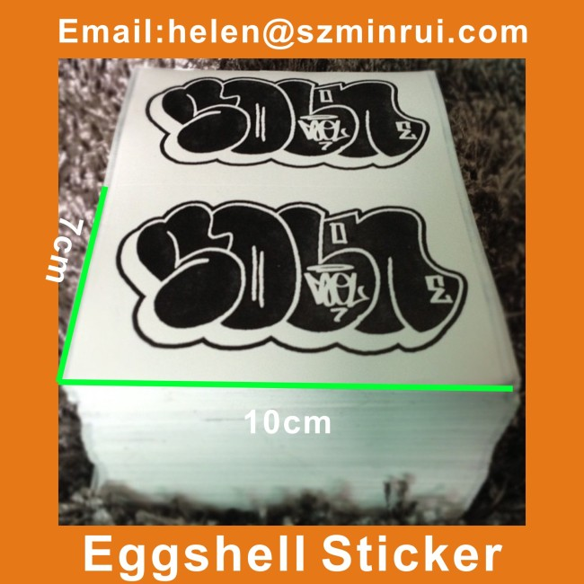 Indestructible Vinyl Blank Eggshell Sticker For Arts Graffiti - Graffiti custom vinyl stickers