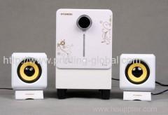Heat transfer film for plastic loudspeaker box shell