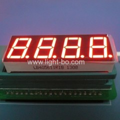 "LED Display 4-Digit 0.56"" Common Anode Ultra Red 7 Segment for instrument panel."