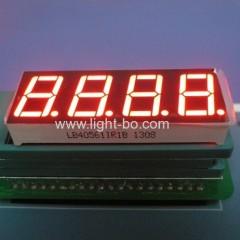 """LED Display, 4-Digit 0.56 """"Common Anode Ultra Red 7 Segment voor instrumentenpaneel."""