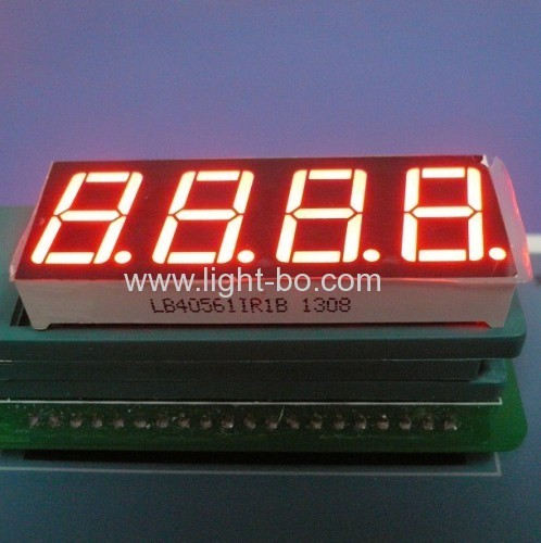 4 digit 0.56 inches ultra bright blue Common Anode 7 Segment LED Display