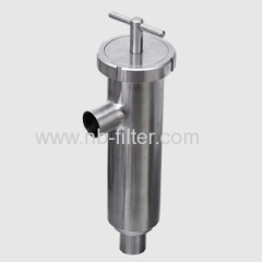 Stainless Steel Sanitary Angle-type Strainer for milk filtration