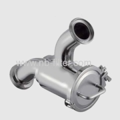 Sanitary Y-type Strainer for milk processing