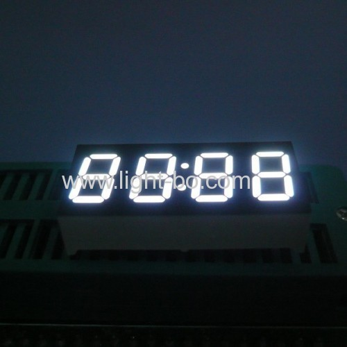 Ultra white 4 digits 0.36 common anode 7 segment led clock display for set up boxes
