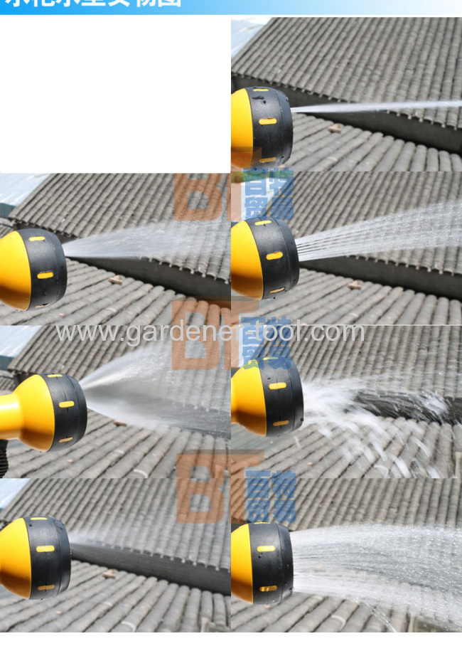 7-pattern plastic spray nozzle for garden irrigate