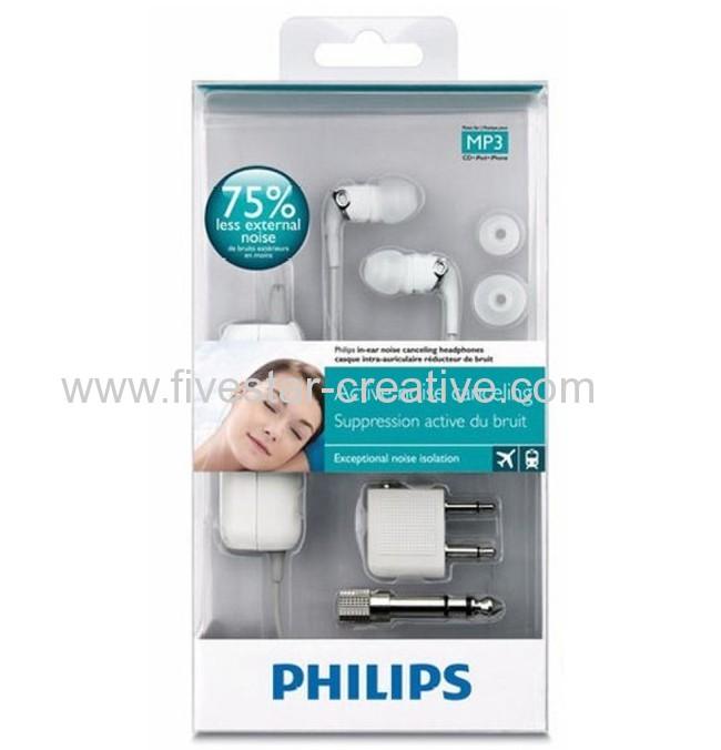 Philips SHN2600/10 In-Ear Noise Cancelling Headphones White