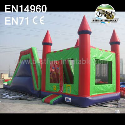 Commercial Giant Inflatable Castle Slide Combos