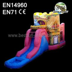 Princess Inflatable Castle with Slide for Kids