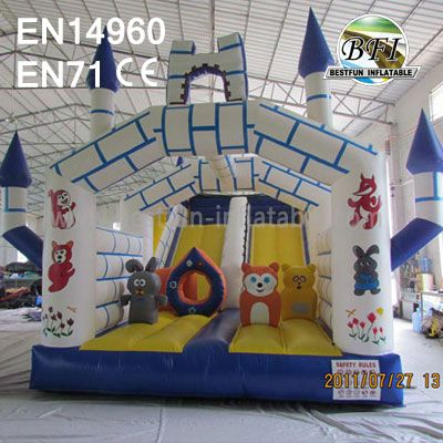 Inflatable Bouncy Castle Combo and Slip Slide