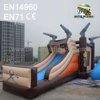 Pirate Ship Inflatable Slide Trampoline Combo for Park