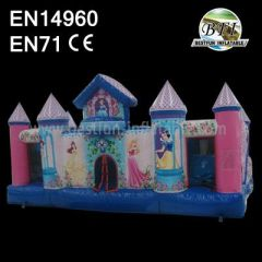 Princess Inflatable Castle Combo Slide