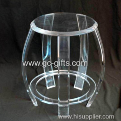 2013 hot selling Transparent acrylic round stool