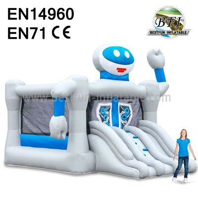 Commercial Smile Robot Jumping Castle Combo