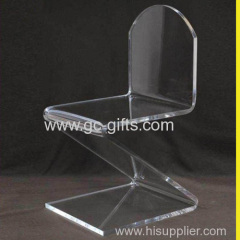 Z shape transparent acrylic chair