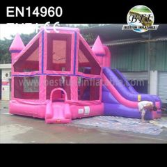 Inflatable Princess Bounce House And Slide