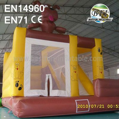 Lovely Dog Outdoor Inflatable Combo for Kids