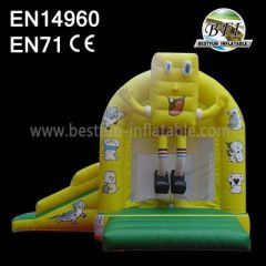 Spongebob Inflatable Bounce House with Slides