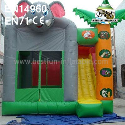 Commercial Inflatable Elephant Castle with Slide