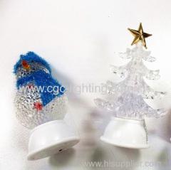 table mounted Christmas decorating lights