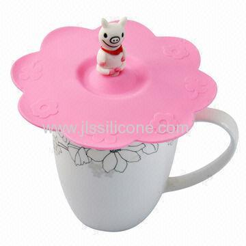 Cute Silicone Cup Lid with little pig design