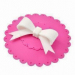 lovely Silicone Cup Lid with bowknot design