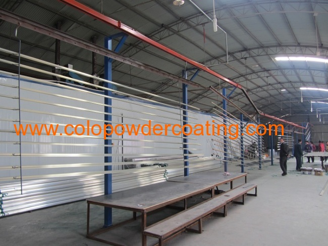 Horizontal Electrostatic Powder Coating System