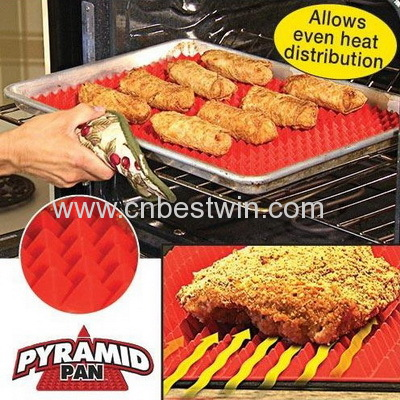 Pyramid Pan,Silicone cooking mat