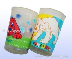 Heat transfer film for glass cup