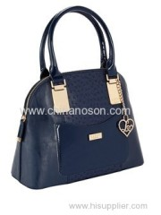 Panel Tote lady handbag with PU material