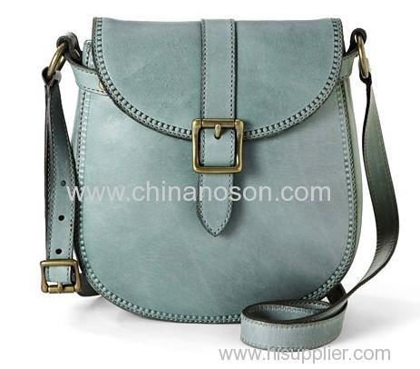 Leather Girls Flap Bandbag