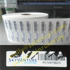 Tamper Evident Barcode Labels With Logo Company Name,Destructible Labels With Barcode Numbers,Security Bar Code Label