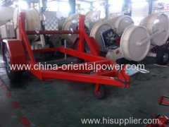 cable reel drum trailers for convenience transportation of underground electric cable