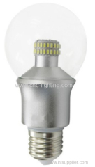 6W dimmable G60 led retrofit bulb with Epistar 3014 led chips over 75Ra