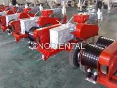 Five tons Dual-bullwheel powered motorised winch