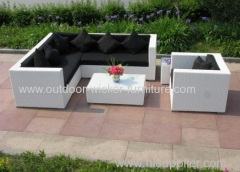 Sectional outdoor rattan sofa set