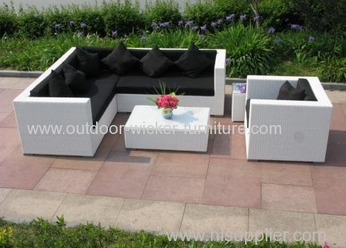 Sectional outdoor rattan sofa set