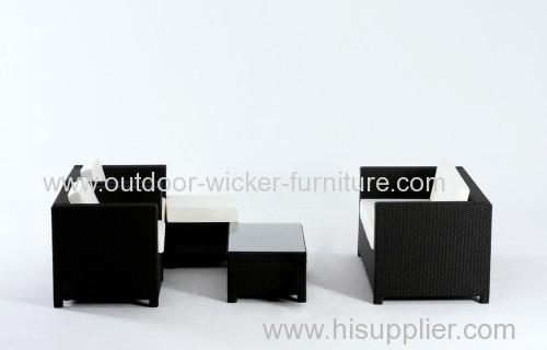 Patio plastic rattan sofa